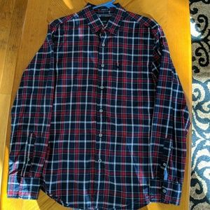 Men's Small American Eagle Plaid Button Up Shirt